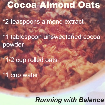 Cocoa Almond Oats